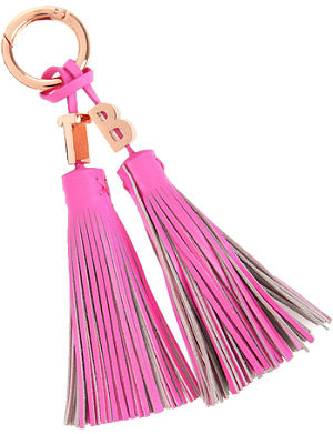 TED BAKER Leather tassel bag charm