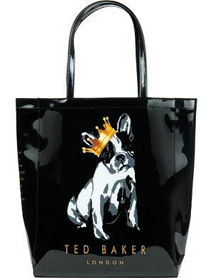 TED BAKER Kincon large cotton dog shopper bag