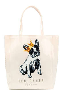 TED BAKER Kincon large cotton dog shopper bag