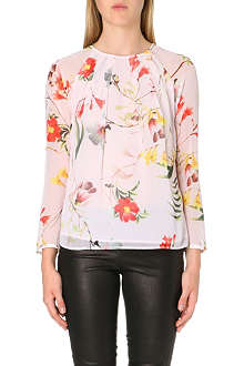 TED BAKER Botanical Bloom print top