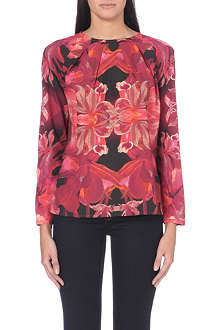TED BAKER Jungle orchid print top
