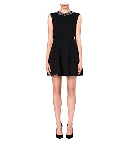 TED BAKER Embellished skater dress (Black