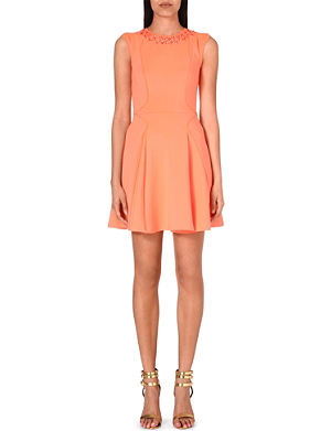 TED BAKER Embellished skater dress