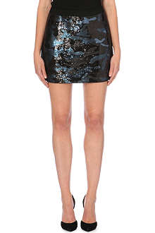 TED BAKER Mikania camouflage-sequinned skirt