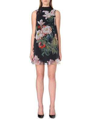 TED BAKER Opulant Bloom floral-print tunic dress