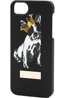 TED BAKER Guila cotton dog motif iPhone cover