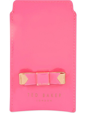 TED BAKER Minicio bow iPhone sleeve