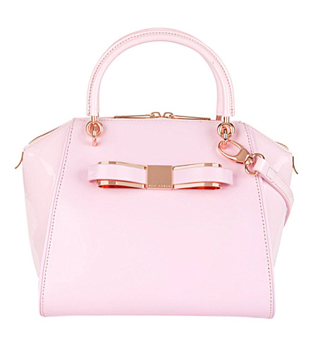 TED BAKER Aveline leather tote (Dusky pink