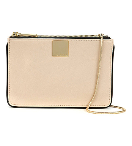 TED BAKER Janel cross-hatch cross-body bag (Taupe