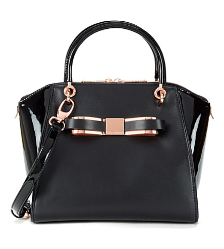 TED BAKER Bandook leather tote bag (Black