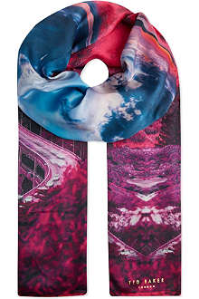 TED BAKER Saanvi Road To Nowhere silk scarf