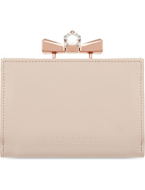 TED BAKER Helan patent crystal purse