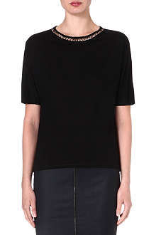 TED BAKER Gerey chain-detail jersey top
