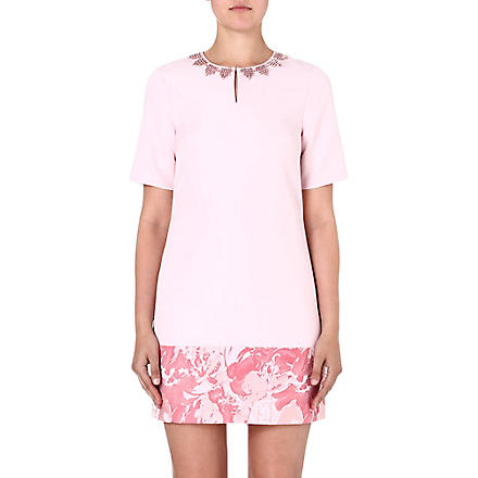 TED BAKER Jacquard satin tunic dress (Pink