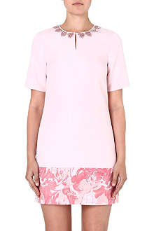 TED BAKER Jacquard satin tunic dress