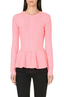 TED BAKER Peplum trim knitted sweater