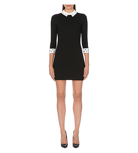 TED BAKER Lace collar tunic (Black