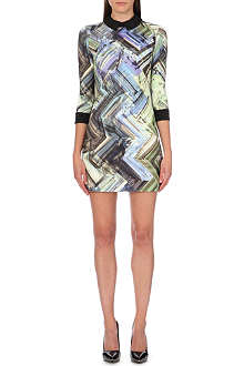 TED BAKER Potton parquet geometric-printed dress