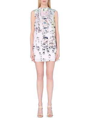 TED BAKER Crystal droplets cape dress