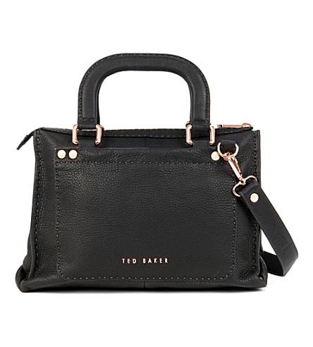 TED BAKER Hickory Stab Stitch bag (Black