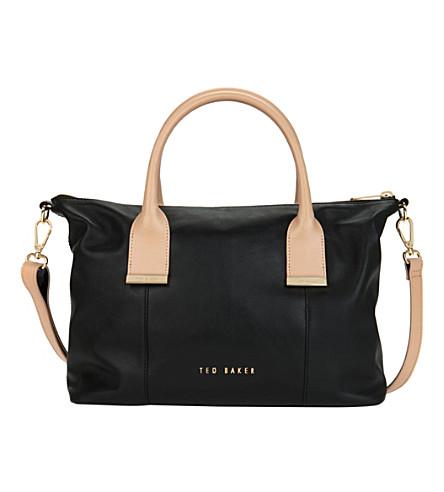Ted Baker Black Leather Shoulder Bag 14