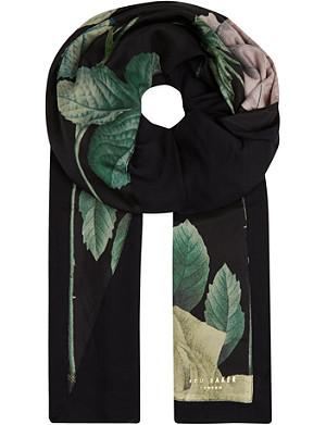 TED BAKER Distinguishing rose split scarf
