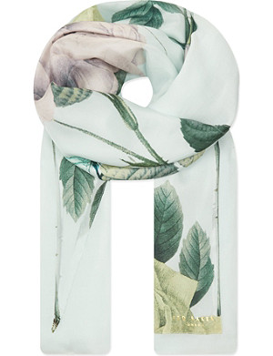 TED BAKER Distinguishing rose split scarf