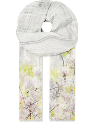 TED BAKER Window blossom scarf