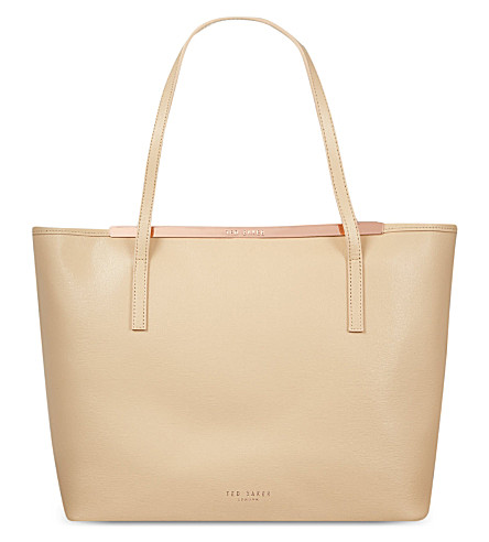 TED BAKER Isbell crosshatch shopping tote (Mink