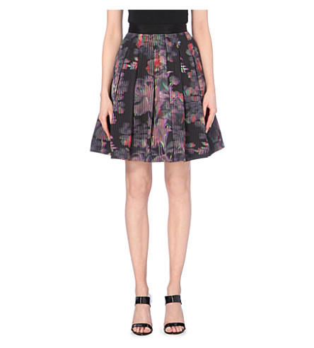 TED BAKER Holographic-printed skirt (Black