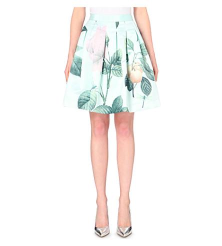TED BAKER Maari pleated distinguishing rose skirt (Mint
