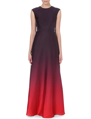 TED BAKER Ombré satin maxi dress