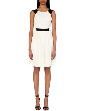 TED BAKER Reversible pleated dress