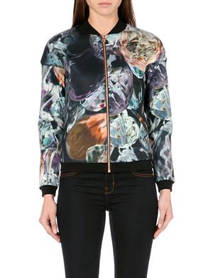 TED BAKER Glistening gems bomber jacket