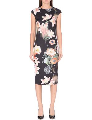 TED BAKER Candiss opulent bloom-print dress