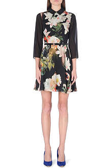 TED BAKER Ise opulent bloom shirt dress