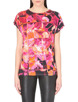 TED BAKER Retro-print jersey top