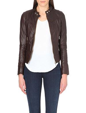 TED BAKER Brezan panelled leather jacket