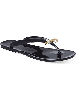 TED BAKER Slim bow jelly flip-flops