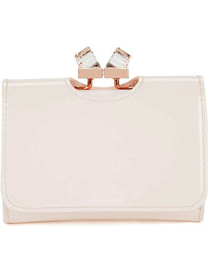TED BAKER Patent crystal frame purse