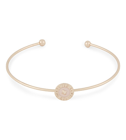 TED BAKER Teya enamelled button cuff (Baby+pink