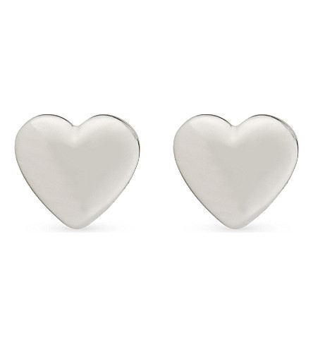 TED BAKER Harly mini heart earrings (Silver+colou