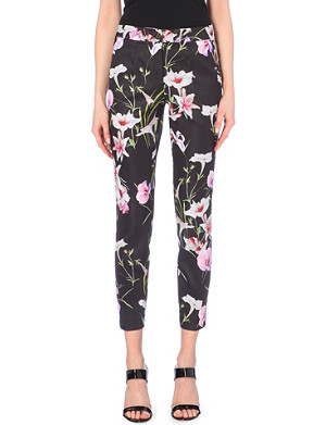 TED BAKER Mirrored tropics trousers