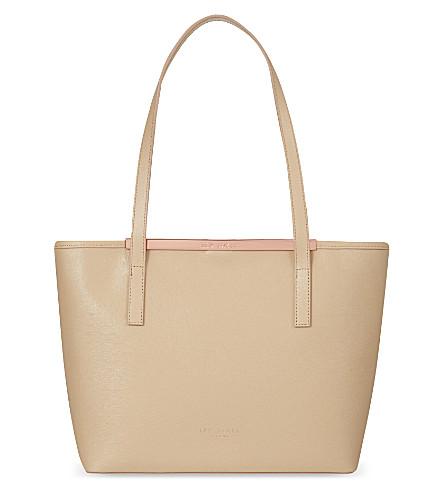 TED BAKER Saffiano leather shopper bag (Mink