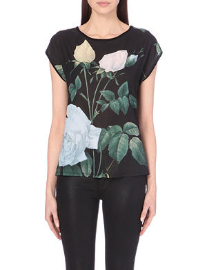 TED BAKER Eevn chiffon and jersey t-shirt