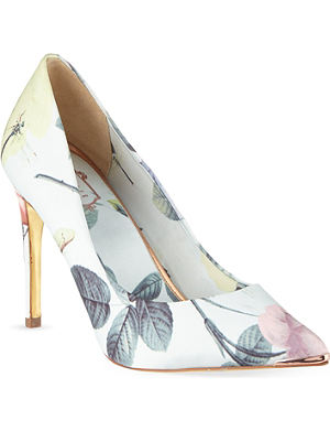 TED BAKER Floral printed court shoes