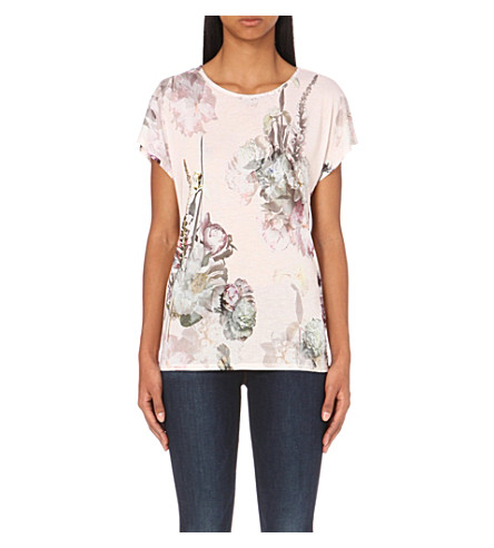 Ted baker aclah torchlit floral print t shirt for Ted baker floral print shirt