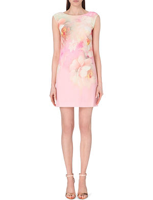 TED BAKER Damona rose on canvas tunic dress