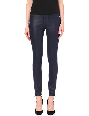 TED BAKER Wax-finish skinny mid-rise jeans