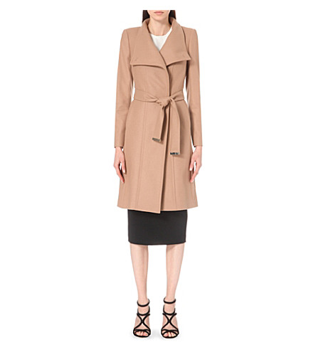 TED BAKER Lorili wool-blend wrap coat (Taupe